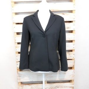 Eileen Fisher long sleeve charcoal gray jacket